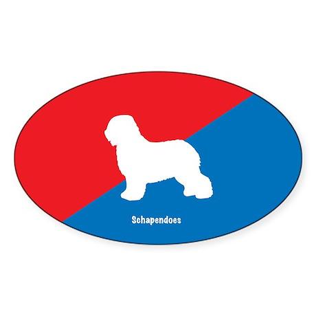 Schapendoes Oval Sticker