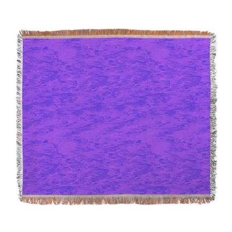 Purple Wash Woven Blanket