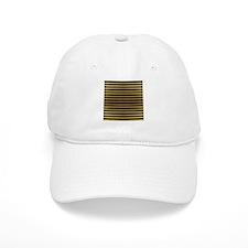 Black Gold Bold Stripes Baseball Baseball Cap