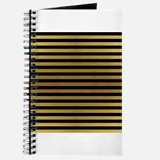 Black Gold Bold Stripes Journal