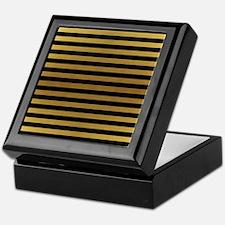 Black Gold Bold Stripes Keepsake Box