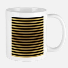 Black Gold Bold Stripes Mugs