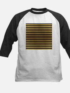 Black Gold Bold Stripes Baseball Jersey