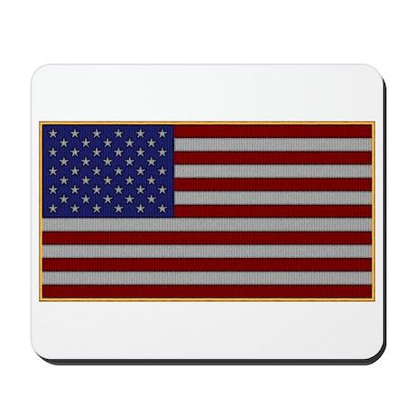 US Flag Patch Mousepad
