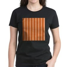 Orange Bold Vertical Stripes T-Shirt