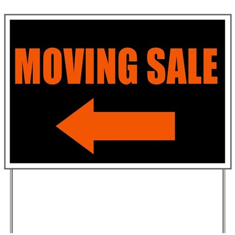 Moving Sale Yard Sign By Onedaycreations