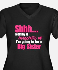 Knocked Up Big Sister Plus Size T-Shirt