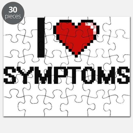 I love Symptoms Digital Design Puzzle
