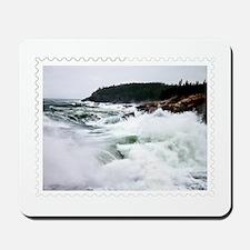 Heavy Seas at Acadia National Park Maine Mousepad