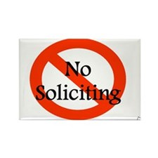Funny Soliciting Rectangle Magnet (10 pack)