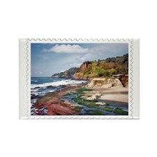 Gorgeous Coast of Oregon Stamp Rectangle Magnet