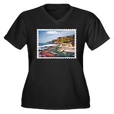 Gorgeous Coast of Oregon Stamp Plus Size T-Shirt