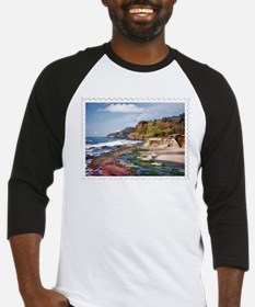 Gorgeous Coast of Oregon Stamp Baseball Jersey
