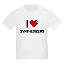 I love Synthesizers Digital Design T-Shirt