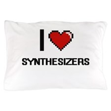 I love Synthesizers Digital Design Pillow Case