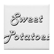 Sweet Potatoes Classic Retro Design Tile Coaster