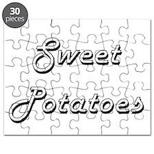 Sweet Potatoes Classic Retro Design Puzzle