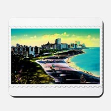 Surreal Colors of Miami Florida Stamp Mousepad