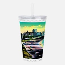 Surreal Colors of Miam Acrylic Double-wall Tumbler