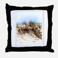 Watercolor Sketch of Sand Dune Stamp Throw Pillow