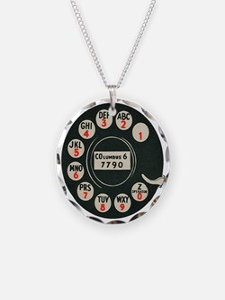 Retro Rotary Phone Necklace
