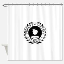 World's Greatest 11th Grade Teacher Shower Curtain