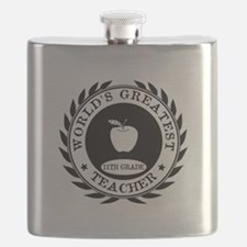 World's Greatest 11th Grade Teacher Flask