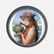 Pandora by Alma Tadema Wall Clock