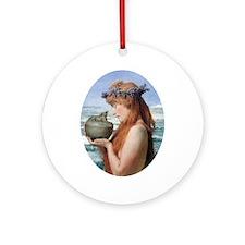 Pandora by Alma Tadema Round Ornament