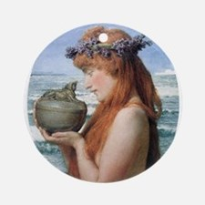 Pandora by Alma Tadema Round Ornament