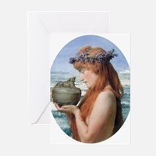 Pandora by Alma Tadema Greeting Cards