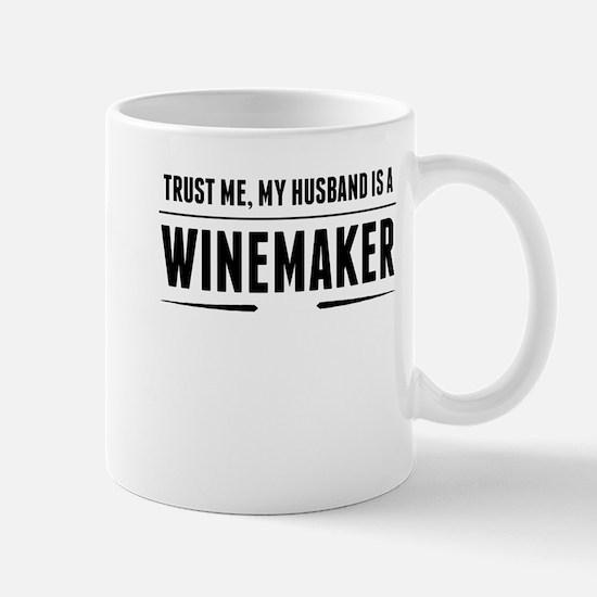 My Husband Is A Winemaker Mugs