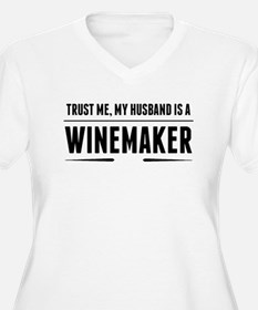 My Husband Is A Winemaker Plus Size T-Shirt
