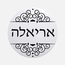 Ariella name in Hebrew Round Ornament