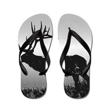 Safari Elk Animals Flip Flops