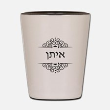 Ethan name in Hebrew letters Shot Glass