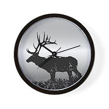 Safari Elk Animals Wall Clock