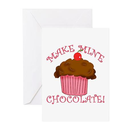 Chocolate Cupcake Greeting Cards (Pk of 10)