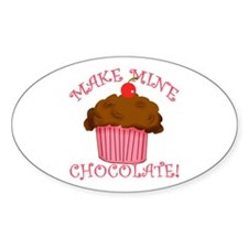 Chocolate Cupcake Oval Decal
