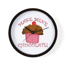Chocolate Cupcake Wall Clock