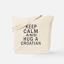 Keep Calm And Croatian Designs Tote Bag