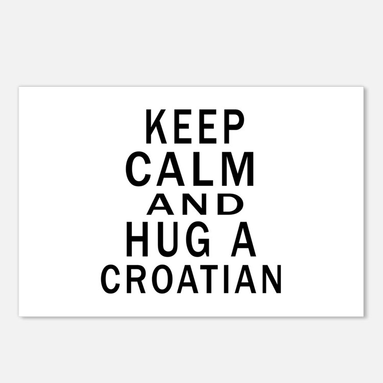 Keep Calm And Croatian De Postcards (Package of 8)