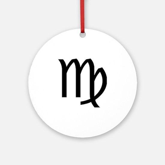 Virgo Symbol Ornament (Round)