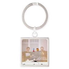 Ponder Couch Photo Square Keychain
