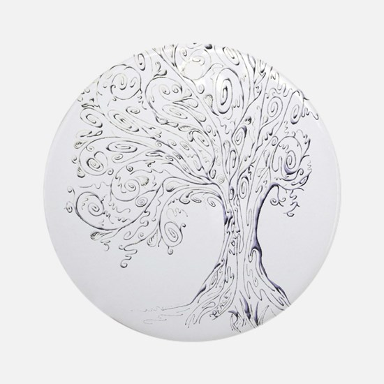 Whimsy tree Round Ornament