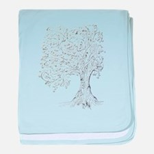Whimsy tree baby blanket