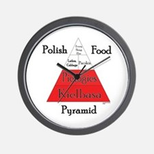 Polish Food Pyramid Wall Clock