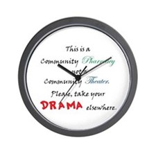 Pharmacy Drama Wall Clock