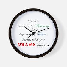Pharmacy Drama Wall Clock