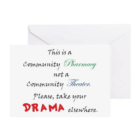 Pharmacy Drama Greeting Card